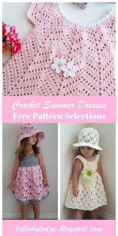 Get ready for summer and crochet your little one a gorgeous sun dress. Your little girl will look stunning in these super cute crochet dresses. Free patterns suitable from beginner to advanced. Source by crochetinthesun patterns Crochet Baby Dress Free Pattern, Crochet Toddler Dress, Crochet Dress Girl, Crochet Summer Dresses, Baby Dress Patterns, Baby Girl Crochet, Crochet Baby Clothes, Crochet For Kids, Crochet Patterns