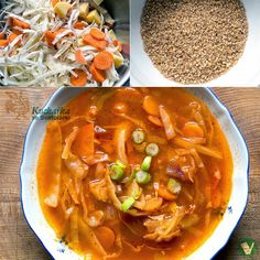 Kuchařka ze Svatojánu: ZELNÁ POLÉVKA S BULGUREM Thai Red Curry, Soup, Ethnic Recipes, Fitness, Bulgur, Soups, Keep Fit, Health Fitness, Rogue Fitness