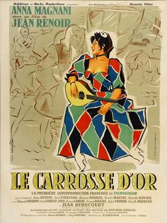 French grande for The Golden Coach (Jean Renoir, France, 1953). Designer: Clément Hurel.