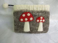 Felted WalletMUSHROOM by cityofangel on Etsy, $19.90