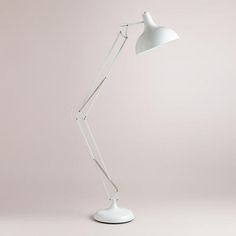 One of my favorite discoveries at WorldMarket.com: White Task Floor Lamp