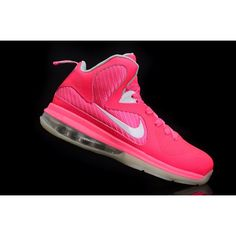 Nike LeBron IX 9 Womens Basketball Shoes Pink White Nike Roshe a35b2be57