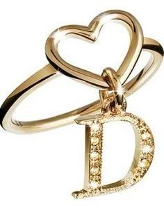 Letter D Ring