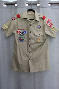 Vintage Boy Scouts of America Uniform Button-up by JackandRe on Etsy