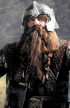 Gimli son of Gloin...this is the first good photo I have been able to find of this amazing dwarf!