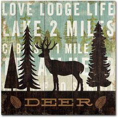 Trademark Fine Art Simple Living Deer Canvas Art by Michael Mullan, Size: 18 x 18, Multicolor