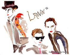 Lanvin Campaign Fashion Illustration by Jennifer Purcell