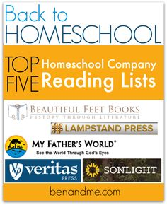 Looking for great books for your kids to read, for read alouds, or to add to your homeschool curriculum? These 5 companies have already done the work for you!