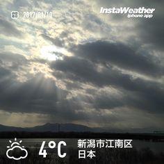 おはようございます! 雲が増えてきました〜