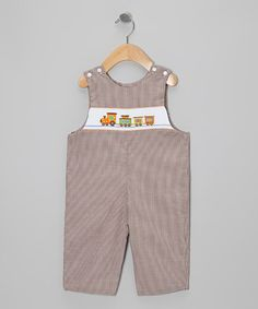 Take a look at this Brown Train Gingham John Johns - Infant & Toddler by Petite Palace on #zulily today!