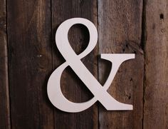 Unpainted Wooden Ampersand Typography- Wall / Home Decor / Wedding Photo Prop. $15.00, via Etsy.