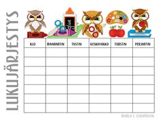 Lapset - Kids - Marlan kuvat I School, Back To School, School Ideas, Teaching Aids, Special Education, Activities For Kids, Calendar, Diagram, Learning