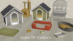 Mod The Sims - Claybee Pets (Maxis Recolours) Sims 4 Pets Mod, The Sims 3 Pets, Sims 3 Mods, Sims Cc, Sims 4 Cc Furniture, Pet Furniture, Sims 4 Traits, Sims 4 Characters, Best Sims