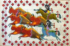 'Buffalo Hunt 1' by Dolores Purdy Corcoran