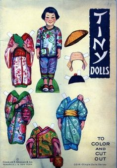 Charles E. Graham Tiny Dolls Paper Dolls Cut Out & Co. Vintage 1920's? Old NY (04/21/2012)