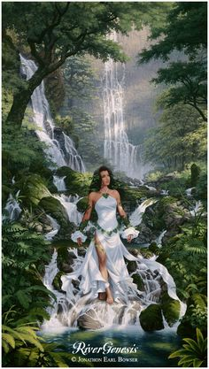 ...an oil painting of Waialeale, Goddess of the Mountain Rain ~ Artwork © - Jonathon Earl Bowser