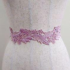 Peach rhinestone lace sash, Floral sash, Crystal ribbon sash, Bridal sash belt, Wedding gown sash, Dress sash, Bling sash, Jeweled belt