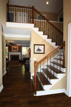 Stair Railing Bing Images Wood Stairs With Carpet In The