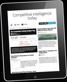 Competitive intelligence today, by Estelle Metayer Make Your Own Newspaper, Online Newsletter, Competitive Intelligence, Online Paper, Branding Your Business, Space Photos, Marketing Techniques, Writing Jobs, Inspiration For Kids