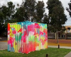 Rowena Martinich for Obus. What a great way to cover up something ugly and make it art!