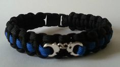 Police Blue Line, Correctional Officers, Security 550 Paracord Bracelet With Handcuffs on Etsy, $12.95