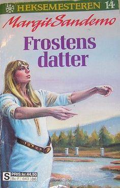"""""""Frostens datter"""" av Margit Sandemo Baseball Cards, Reading, Books, Libros, Book, Reading Books, Book Illustrations, Libri"""