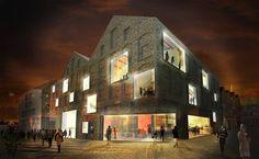 Frits van Dongen en Patrick Koschuch van de Architekten Cie. hebben de prijsvraag gewonnen voor het ontwerp van een nieuw poppodium in Venlo. Het gebouw heeft de typologie van een pakhuis.