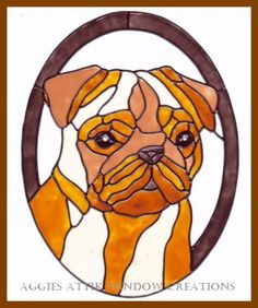 Made by myself from Plaid Gallery Glass paints. Sticks to windows, mirrors, sliding doors, photo frames etc. Faux Stained Glass, Stained Glass Designs, Stained Glass Projects, Stained Glass Patterns, Leadlight Windows, Tiffany, Window Clings, Glass Animals, Dog Pattern