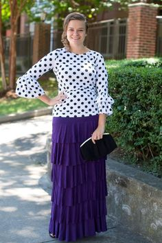 Dainty Jewell's Original Perfect Ruffle Skirt Colors) - - Dainty Jewell's Original Perfect Ruffle Skirt Colors) // Perfect Ruffle Skirt in Plum // Modest Fashion, Bridesmaid Styles, Ruffles, Lace // www.daintyjewells… Source by Skirt Midi, Ruffle Skirt, Dress Skirt, Lace Dress, Ruffles, Skirt Outfits, Modest Casual Outfits, Modest Fashion, Fashion Outfits