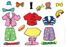 les accessoires pour habiller les clowns