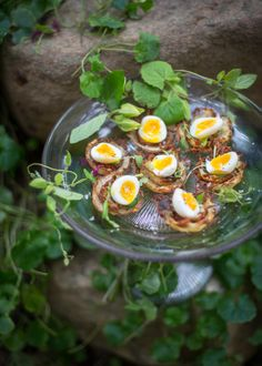 #Quail #eggs on #rosti as a #quick & #easy #canapé. #photography #styling #foodphotography #foodstyling Canapes, Quail, Food Styling, Easy, Food Photography, Celebration, Bubbles, Menu, Breakfast