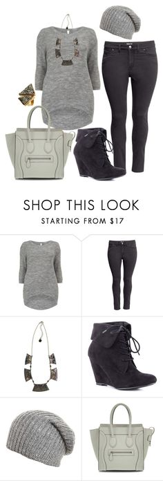 """Neutral Winter - Plus Size"" by alexawebb ❤ liked on Polyvore featuring H&M, House of Harlow 1960, Zigi Soho, Anna Field, Seraphine Designs, outfit, plus, plussize and size"