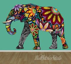 Hey, I found this really awesome Etsy listing at https://www.etsy.com/listing/195151365/elephant-wall-decal-reusable-fabric-wall