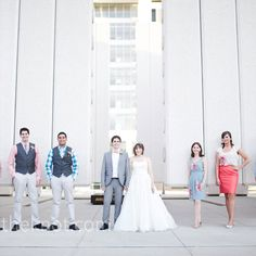 groomsmen look: grey vests and pants, colored checked shirts, ties I doing casual deff!!!