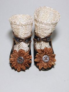 20 inch A13T Doll ANTIQUE DOLL SHOES AND SOCKS