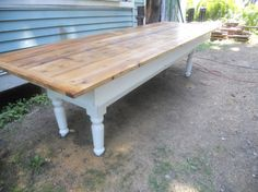 Farmhouse table reclaimed Vermont wood by TheIndustrialist on Etsy, $2800.00