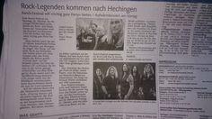 Schwarzwälder Bote Press Release, Crystal Ball, Event Ticket, Concert, Scene, Legends