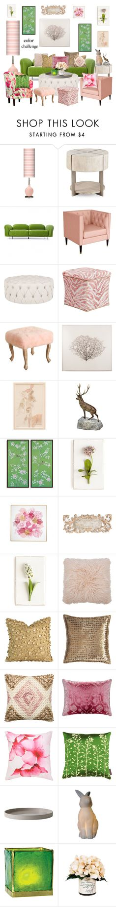 """""""Floral Blush Forest"""" by leiastyle ❤ liked on Polyvore featuring interior, interiors, interior design, home, home decor, interior decorating, Moooi, Nate Berkus, Safavieh and Mirror Image Home"""