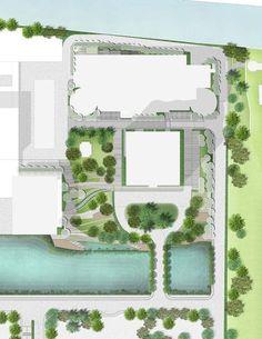 The masterplan for the SCG Headquarters. Image courtesy of  Landscape Architects of Bangkok