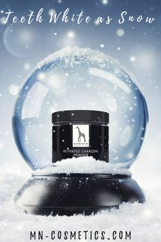 Mother Nature Activated Charcoal Powder is making your teeth white as snow. Activated Charcoal, White Teeth, Perfect Christmas Gifts, Teeth Whitening, Mother Nature, Powder, Snow, Cosmetics, Make It Yourself