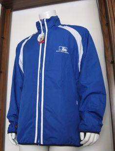 XL Mens Antigua MLB Major League Baseball Full Zip Windbreaker Jacket Blue NWT #Antigua #MLB