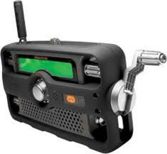 Portable Raidio- A small, lightweight, hand charged radio can come in handy to hear the rest of the world.