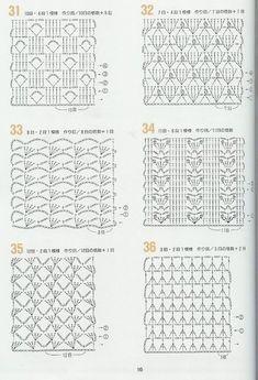 Materiales gráficos Gaby: 25 Moldes en punto ganchillo