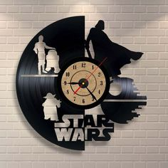 Star Wars baby girl art vinyl wall record clock by Vinylastico on Etsy…