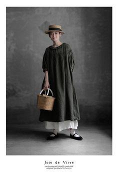 【楽天市場】【送料無料】Joie de Vivre フレンチリネンリアクティブダイブロドリールーシュドレス:BerryStyleベリースタイル Korean Babies, Loose Tops, Normcore, Clothes, Dresses, Baby, Style, Fashion, Loose Tank Tops