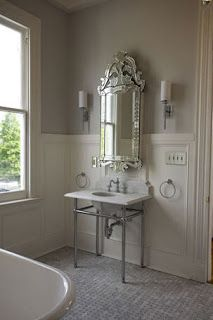 Idea for my Venetian mirror placement in the bathroom