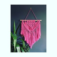 Modern macrame wall hanging 'Maya' / boho / weave /