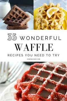 35 Wonderful Waffle Recipes You Need To Try Home Musings 35 Wonderful Waffle Recipes You Need To Try Home Musings Home Musings home musings Dessert Recipes to Die For 35 nbsp hellip waffles breakfast Best Breakfast Recipes, Sweet Breakfast, Breakfast Dishes, Brunch Recipes, Sweet Recipes, Dessert Recipes, Mexican Breakfast, Crepe Recipes, Breakfast Pizza
