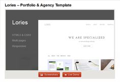 Lories - Portfolio & Agency Template Fashion Wordpress Theme, Model Agency, Website Template, Bar Chart, Templates, Stencils, Bar Graphs, Western Food