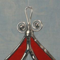 Bright Orange Stained Glass Bevel Ornament Suncatcher-Star Center ...